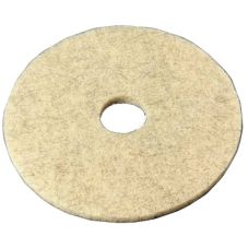 "3M 19008 Natural Blend Tan 20"" Floor Burnishing Pad 3500 - 5 / CS"