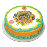 Lucks™ 33988 Edible Image® Groovy Birthday - 12 / BX