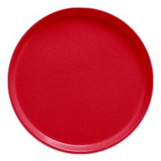 "Cambro® Camtray® 13"" Cambro Red Round Serving Tray"