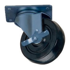 "Win-Holt 73111BK Swivel Plate Caster with 6 x 2"" Polyolefin Wheel"