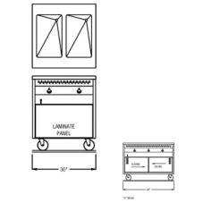 Randell® 14G HTD-2S RanServe Open Cabinet 2 Well Hot Food Table