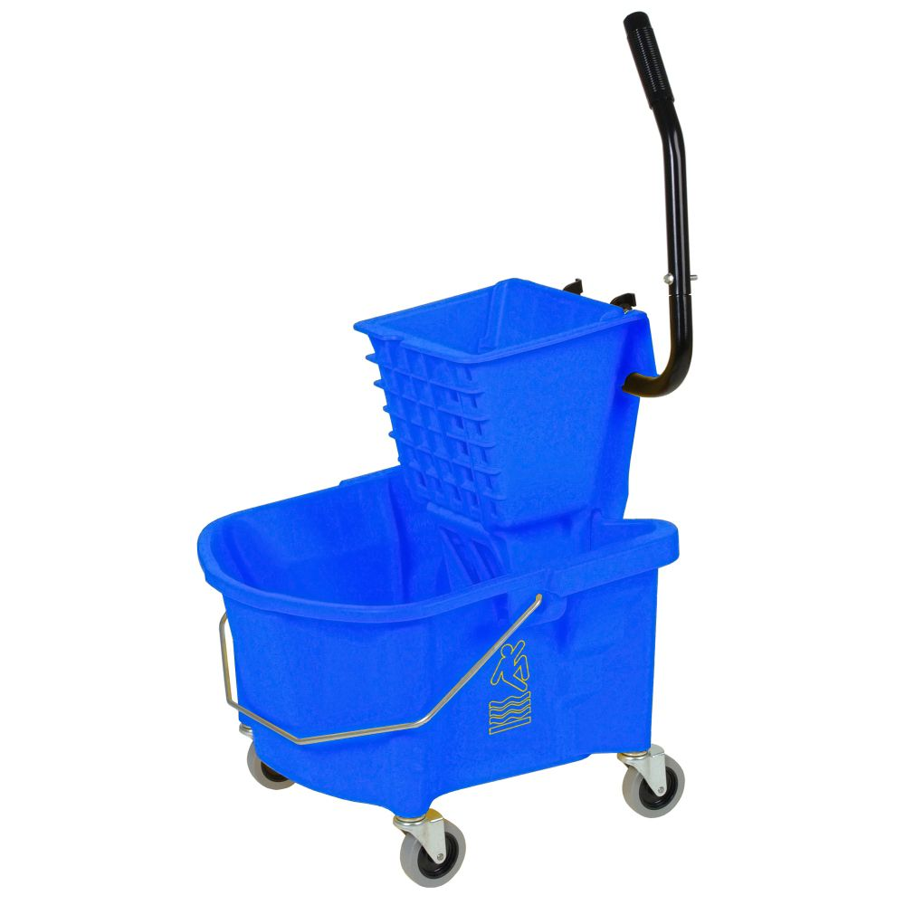 Splash Guard Continental 226-312BL Blue 26 qt Side Press Combo Mop Bucket at Sears.com