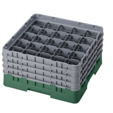 "Cambro 25S800119 Sherwood Green 8-1/2"" Full Size Glass Rack - 2 / CS"