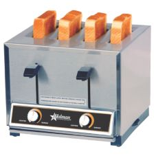 Star® Mfg Four-Slot Pop-Up Bread / Bagel Toaster w/ Thermostat