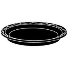 "Genpak® BLK07 Silhouette 7"" Black Plastic Plate - 1000 / CS"