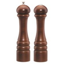 "Chef Specialties Walnut 10"" Imperial Pepper Mill/Salt Shaker Set"