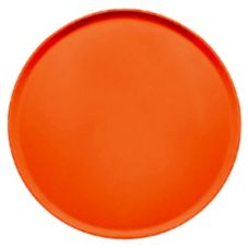 "Cambro 1950220 19.5"" Citrus Orange Low Profile Round CamTray - 12 / CS"