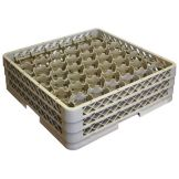 Traex® TR13MMM Beige 42 Compartment Glass Rack with 3 Extenders