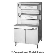 Cleveland Range Pressure Type Steamer with 3 Compartments