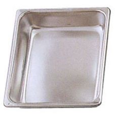 Eastern Tabletop 3202FP Stainless 4 Qt. Half-Size Food Pan for Chafers