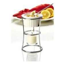Focus Butter Warmer with Ceramic Ramekin, Glass Candle Holder