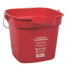 San Jamar® Red 10-Quart Kleen-Pail®