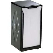 San Jamar® H900BK Black Tall Fold Table-Top Napkin Dispenser