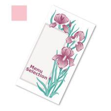 Dinex DX6SM081190 Iris Garden Pink Patient Menu - 2000 / CS