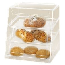 Cal-Mil 961-S Slant Front Counter Display with 3 Clear Acrylic Trays