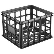 Sterilite® 16929006 Black Storage Crate
