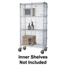 "Focus Foodservice Chromate 24 x 36 x 63"" Mobile Security Cage Kit"