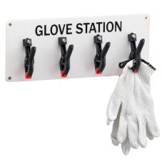 "Cal-Mil® White 15"" x 6"" Glove Station"