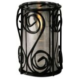 SternoCandleLamp™ 85264 Black Swirl Lamp Base
