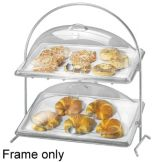 Cal-Mil 1001 Chrome Two Sloped Tier Arch Wire Frame