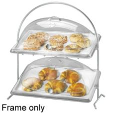 Cal-Mil® 1001 Chrome Two Sloped Tier Arch Wire Frame
