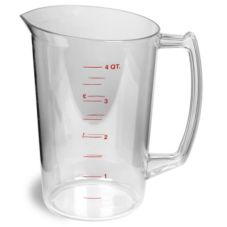 Continental 9828 Clear Plastic Graduated 1 gal Measuring Cup