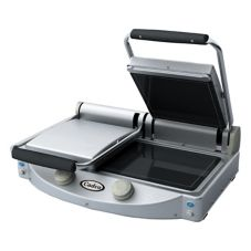 Cadco Double Panini/Clamshell Smooth Top Surface Grill, CPG-20F