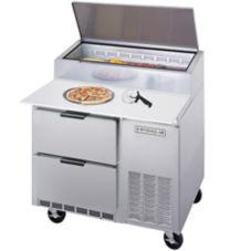 "Beverage-Air 46"" Pizza Top Refrigerated Counter with 2 Drawers"