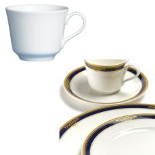 Steelite 42032369 Gold Pia Blue 4-1/2 Oz Coffee Cup - 24 / CS