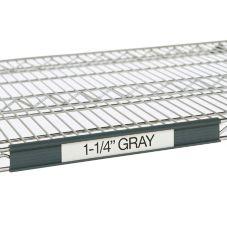 """Metro® 9990P4 43"""" Gray Label Holders For Super Erecta® Shelves"""