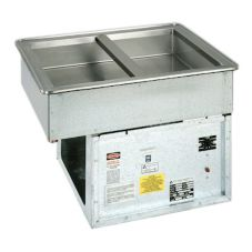 Atlas Metal WCM-2 Two Pan Size Refrigerated Cold Food Drop-In Unit