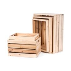 Willow Specialties 899043.1.5 Set Of 5 Rectangular Wood Crates