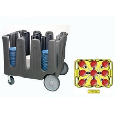 Traex® ADC-10 10 Post Adjustable Dish Caddy