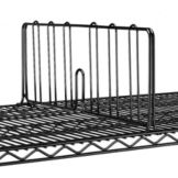"Metro® DD14BL Super Erecta® Black 14"" x 8""H Shelf Divider"