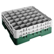 "Cambro® 36S534119 Sherwood Green 36 Comp 6-1/8"" Full Size Camrack"