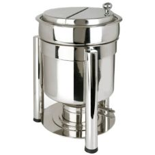Eastern Tabletop 3107PL Stainless 7 Qt. Petite Marmite Sauce Chafer