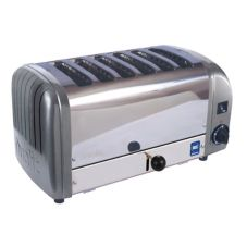 Cadco CTW-6M(220) Commercial Stainless 6-Slice / 220V Toaster