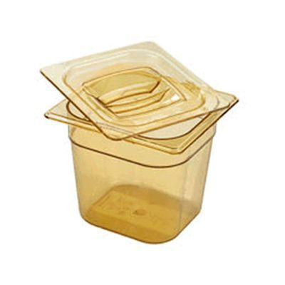 Sixth Size Amber Food Pan