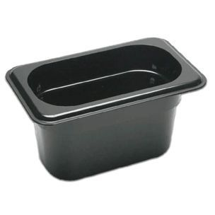 Ninth Size Black Food Pan