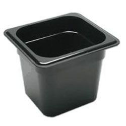 Sixth Size Black Food Pan
