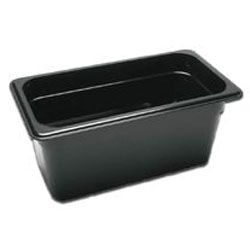 Third Size Black Food Pan