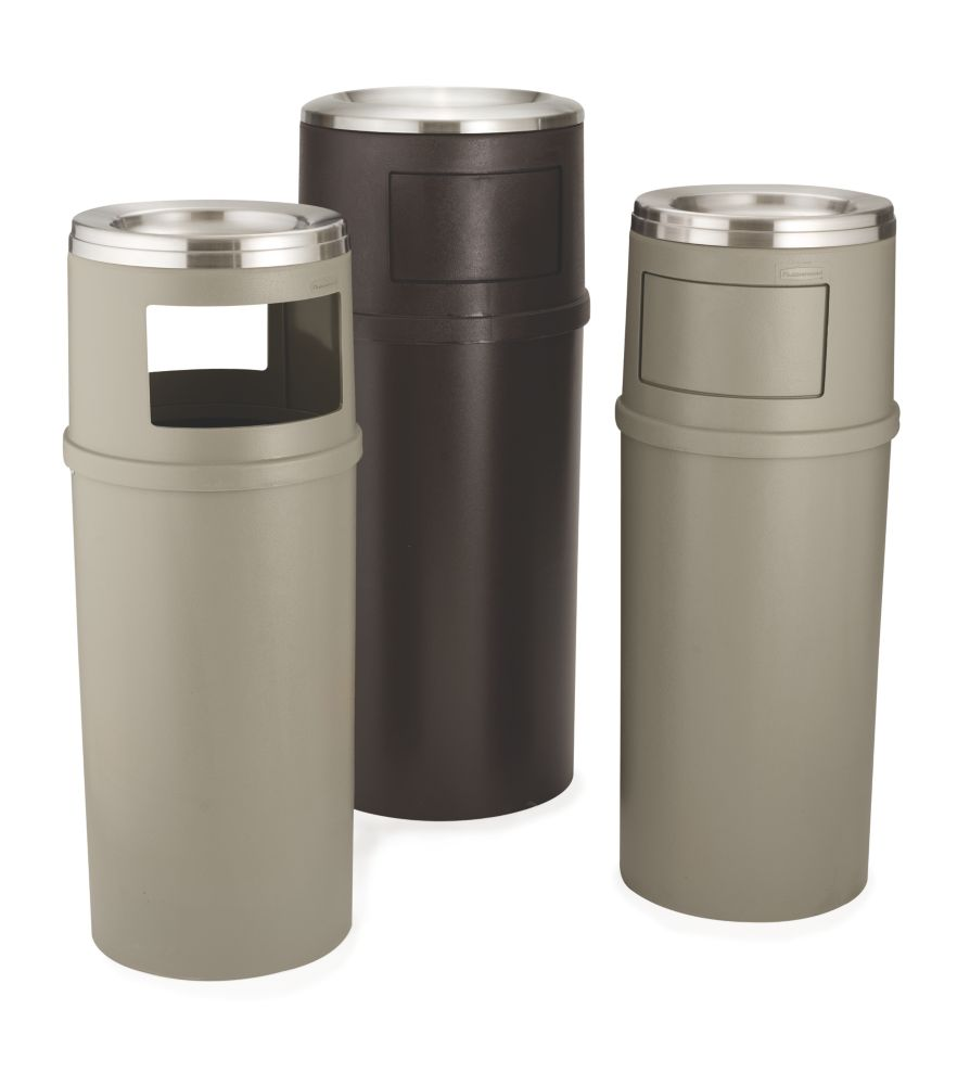 Cigarette Urns and Combination Trash Containers