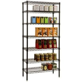 Focus Black Epoxy Shelving