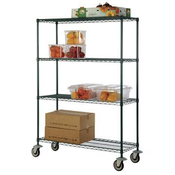 Focus Foodservice Green Epoxy Shelving