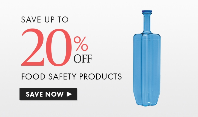 Save Up To 20% On Food Safety Products