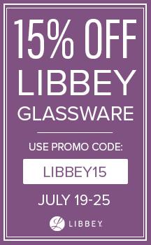 15% Off Libbey Glassware