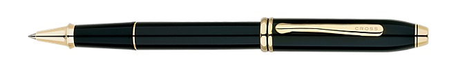 Townsend Black Lacquer Selectip Rolling Ball Pen