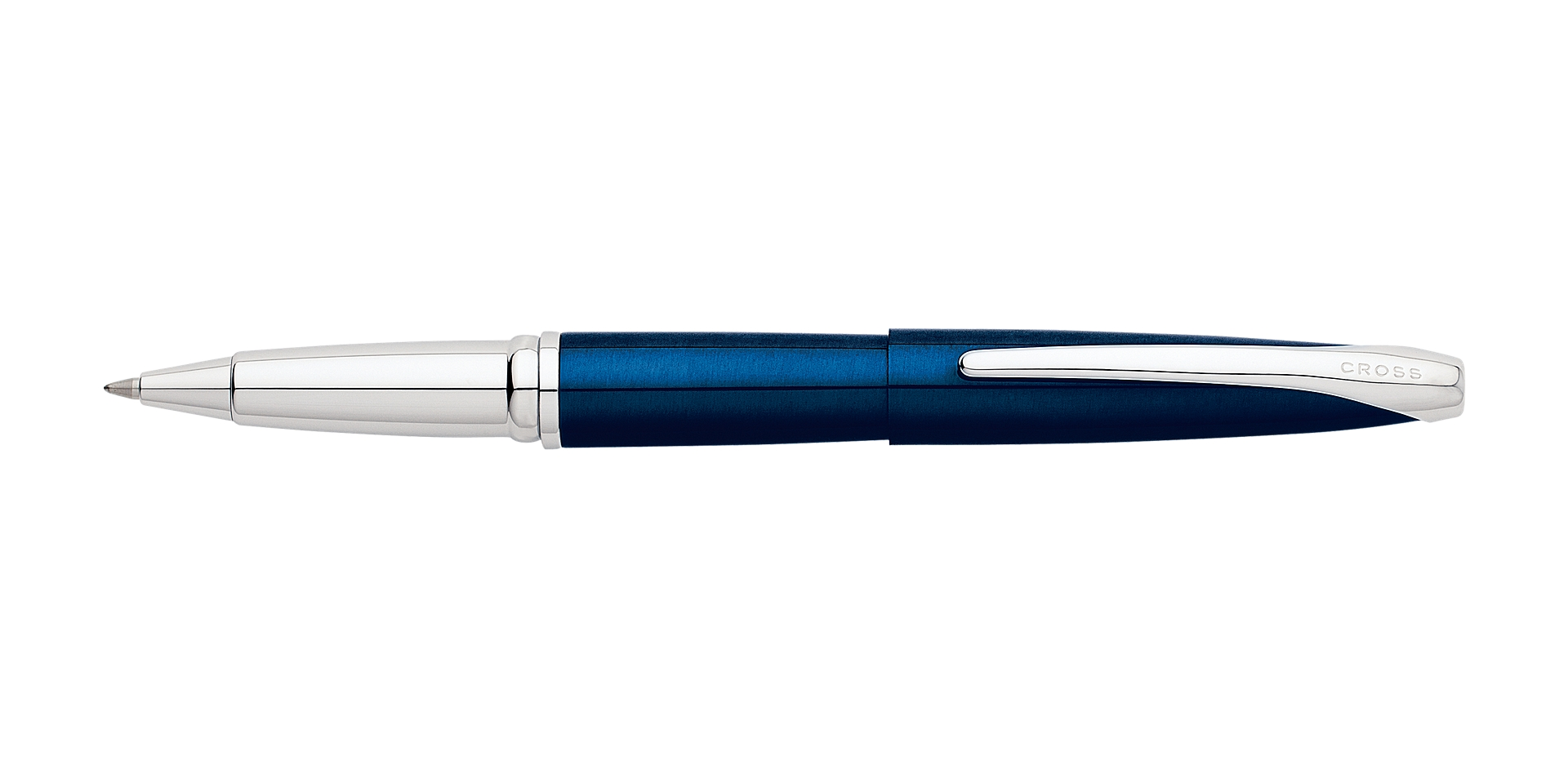 Cross ATX Translucent Blue Lacquer Rollerball Pen Picture