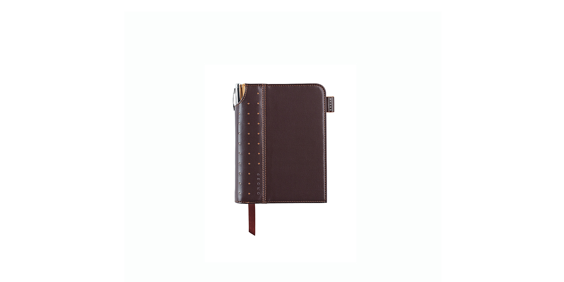 Cross Small Brown Signature Journal with Pen Picture