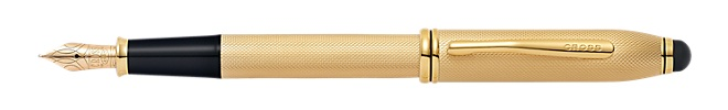 Townsend Brushed 23KT Gold Plate Fountain Pen